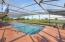 expansive golf views, elevated screend over the pool