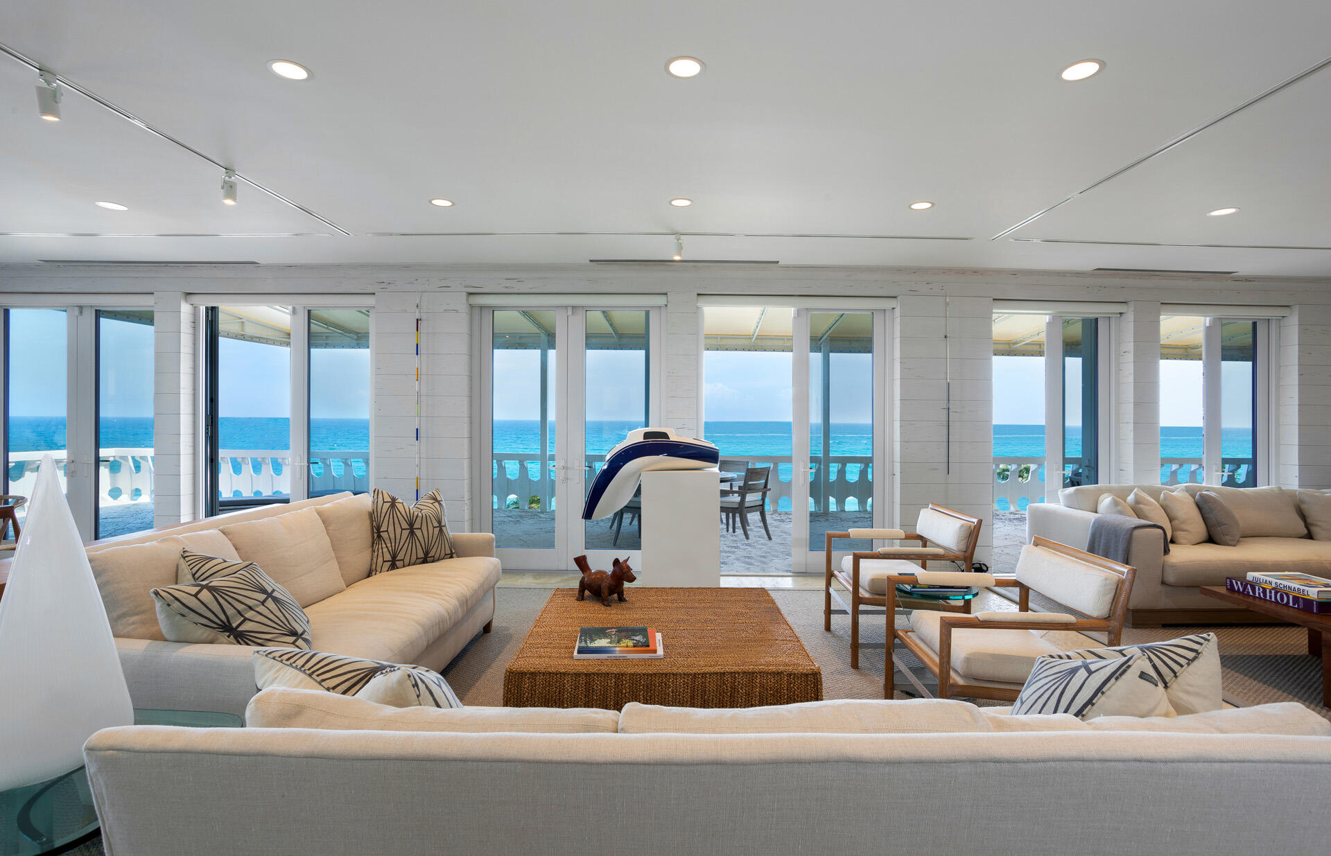 Stunning Penthouse apartment in the coolest mid-century building in Palm Beach. PH-C offers 3,852 total sq. ft. which includes a 1,624 SF terrace overlooking the Atlantic Ocean. The apartment consists of a grand room with high ceilings and French doors opening onto the terrace, a spacious master also with doors opening onto terrace, walk-in closet and exercise room, an entry foyer and powder room and a kitchen which opens onto the main room. The style and sensibility of the apartment will appeal to a sophisticated buyer similar to the current owners who have an extensive art collection and the previous owner who was a world-class fashion designer. The 300 Building itself has been dramatically improved over the last ten years  the choice of designs and furnishings in keeping with the Modernist architecture. This is an exceptional oceanfront apartment which rarely comes onto the market.   DISCLAIMER: Information published or otherwise provided by the listing company and its representatives including but not limited to prices, measurements, square footages, lot sizes, calculations and statistics are deemed reliable but are not guaranteed and are subject to errors, omissions or changes without notice. All such information should be independently verified by any prospective purchaser or seller. Parties should perform their own due diligence to verify such information prior to a sale or listing. Listing company expressly disclaims any warranty or representation regarding such information. Prices published are either list price, sold price, and/or last asking price. The listing company participates in the Multiple Listing Service and IDX. The properties published as listed and sold are not necessarily exclusive to listing company and may be listed or have sold with other members of the Multiple Listing Service. Transactions where listing company represented both buyers and sellers are calculated as two sales. The listing company's marketplace is all of the following: Vero 