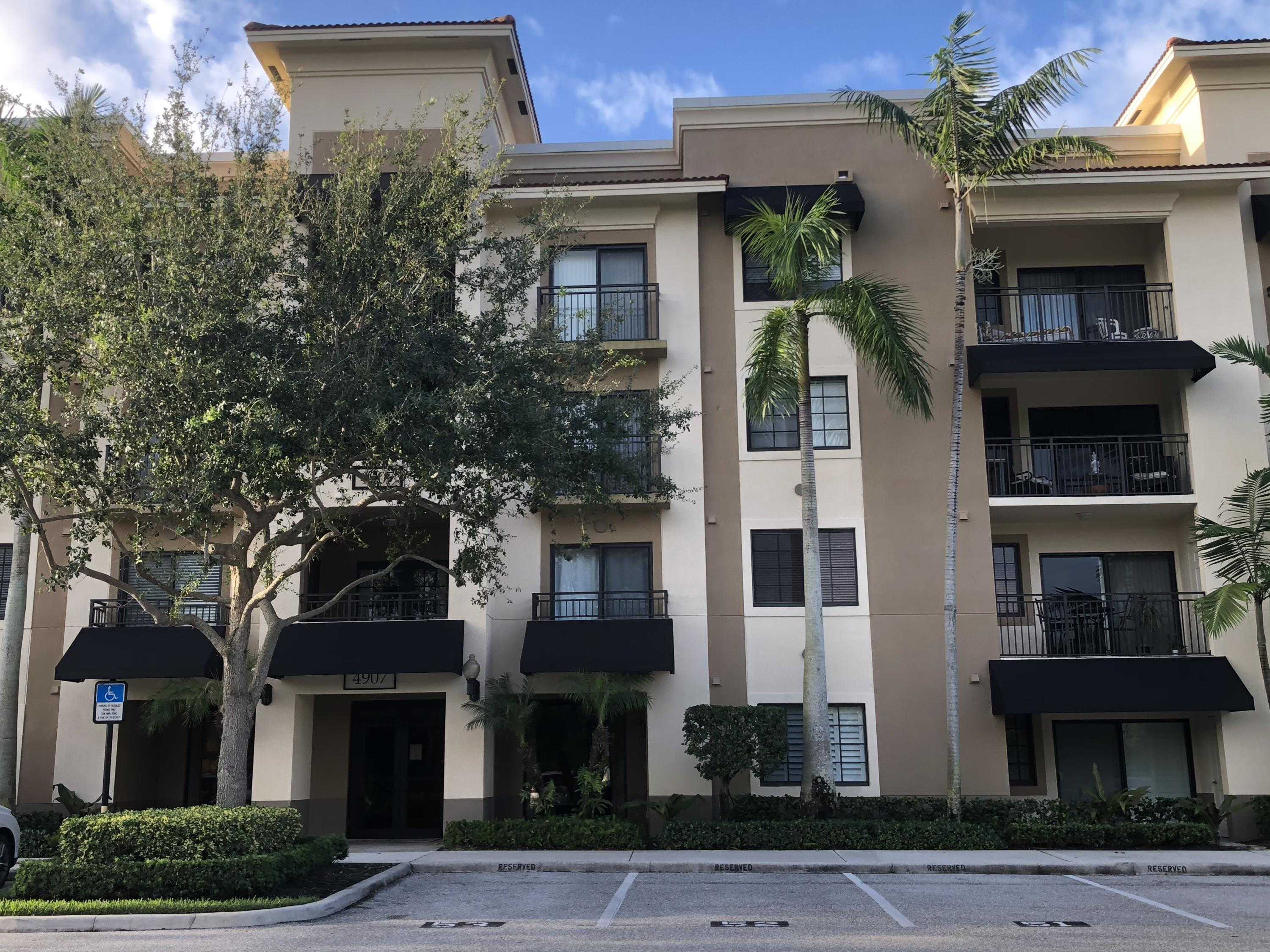 Upscale 1BR/1BA condo located in gated community in Palm Beach Gardens. Updated interior offers volume ceilings with crown molding, plank tile wood look flooring and impact glass throughout, and freshly painted grey walls and white trim. Open floor plan features an updated kitchen with granite counters, stainless steel appliances, adjoining living and dining areas and a separate laundry room with full size washer and dryer. Master suite has a large walk-in closet and an adjoining full bathroom with dual sinks. Exterior offers a tranquil covered balcony off the living area and master suite overlooking landscaped courtyard views. Community offers resort style living with a clubhouse, media room, business center, fitness center, heated pool, tennis courts, a car wash area and more!