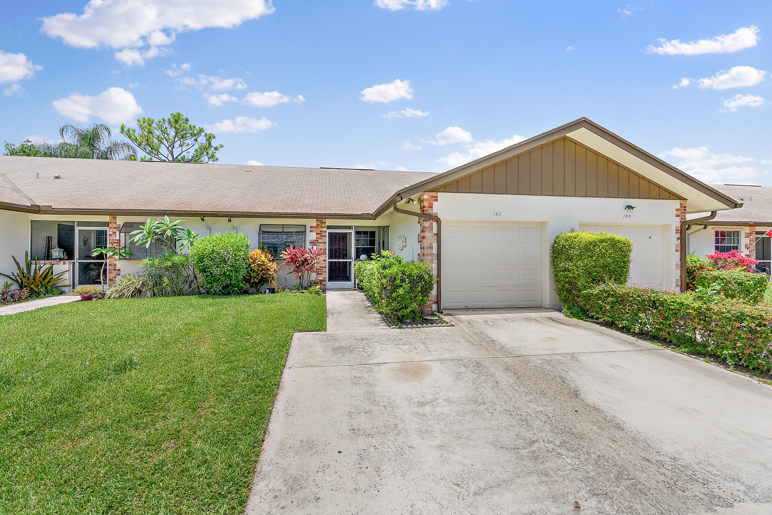 Quaint villa in Indian Creek. Two bedrooms, two full baths and one car garage. Ideal location close to everything Jupiter has to offer. Newer A/C, water heater. Laminate wood flooring in living area and new carpets in bedrooms. Cozy back patio with private view. Low HOA.