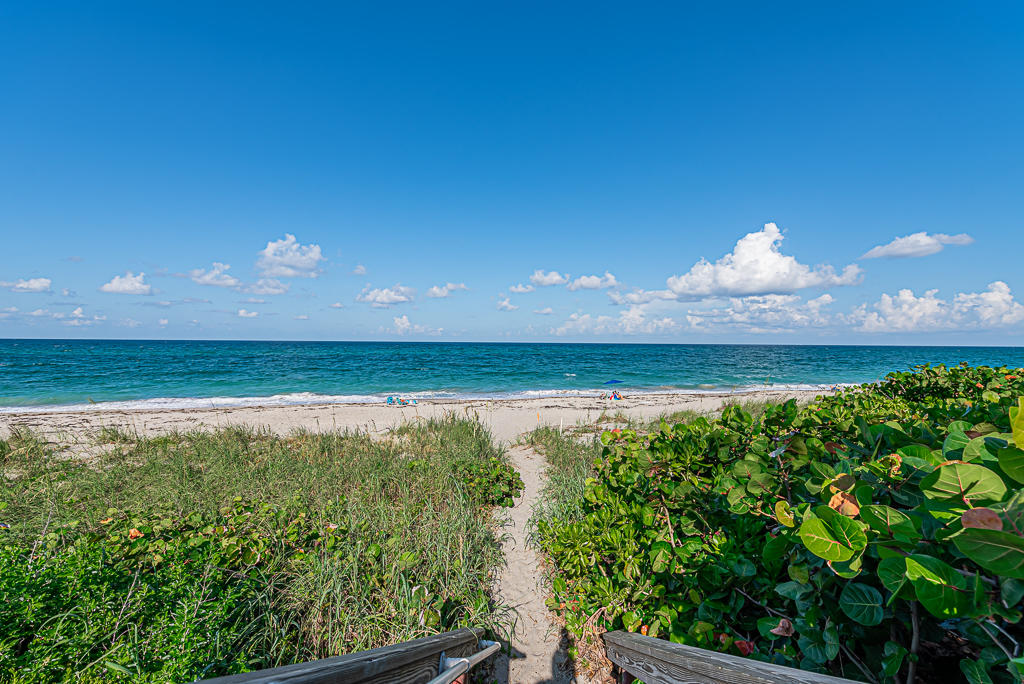 Live the life that so many dream of in your new oceanfront condo located in the highly sought after Juno Beach! Start your days off with breathtaking sunrise views from the balcony or at the gorgeous sandy beach right outside of your door. This well cared for 2 bedroom, 2 bath split floorpan features hurricane impact windows throughout, new hot water heater, and a brand new A/C. There's also a large storage unit right down the hall from the unit. You can't beat the location either! Walking distance to fantastic dining & shopping, Pelican Lake, and the Juno Beach Pier. You really don't want to miss this beauty, so act fast!