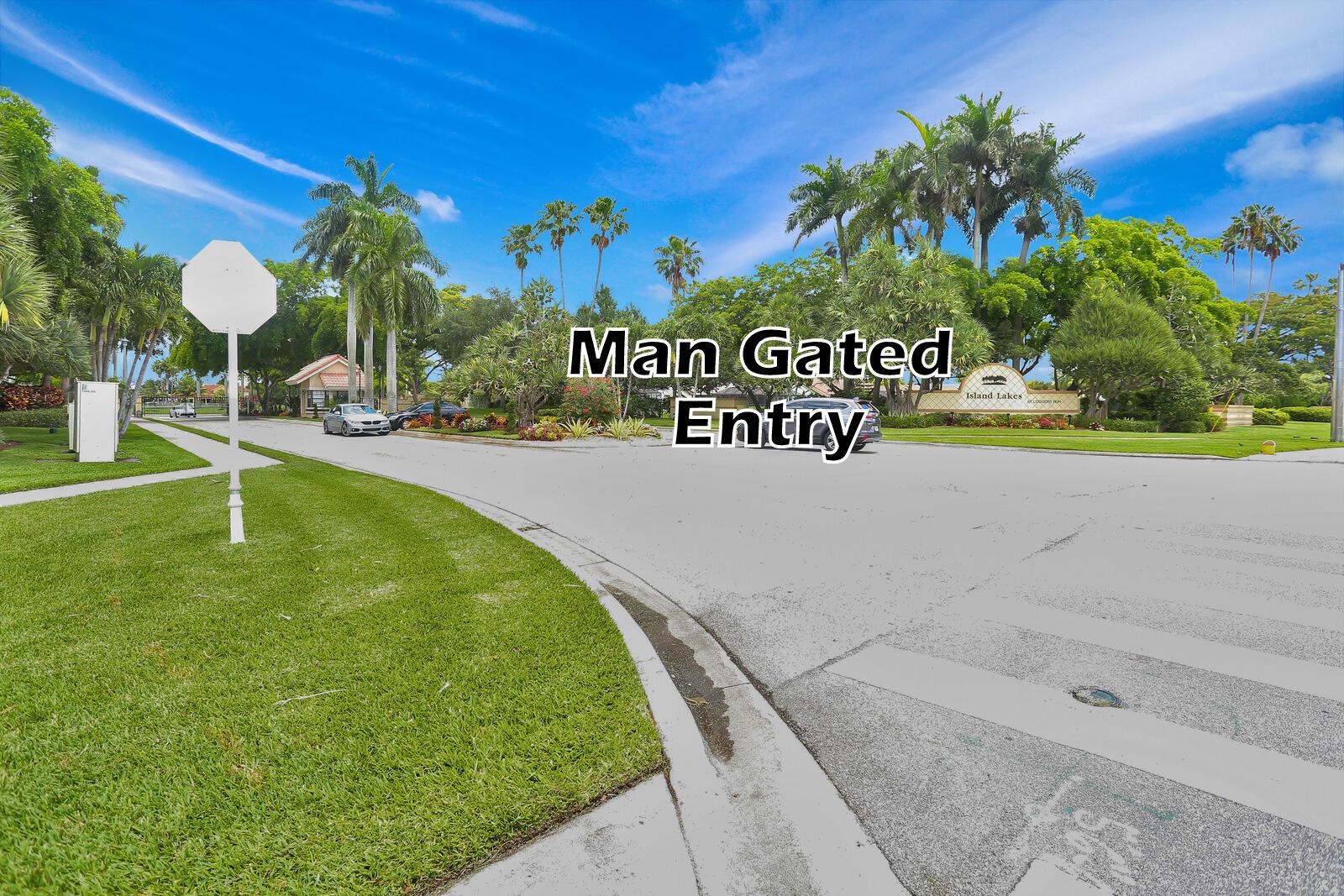 man gated entry