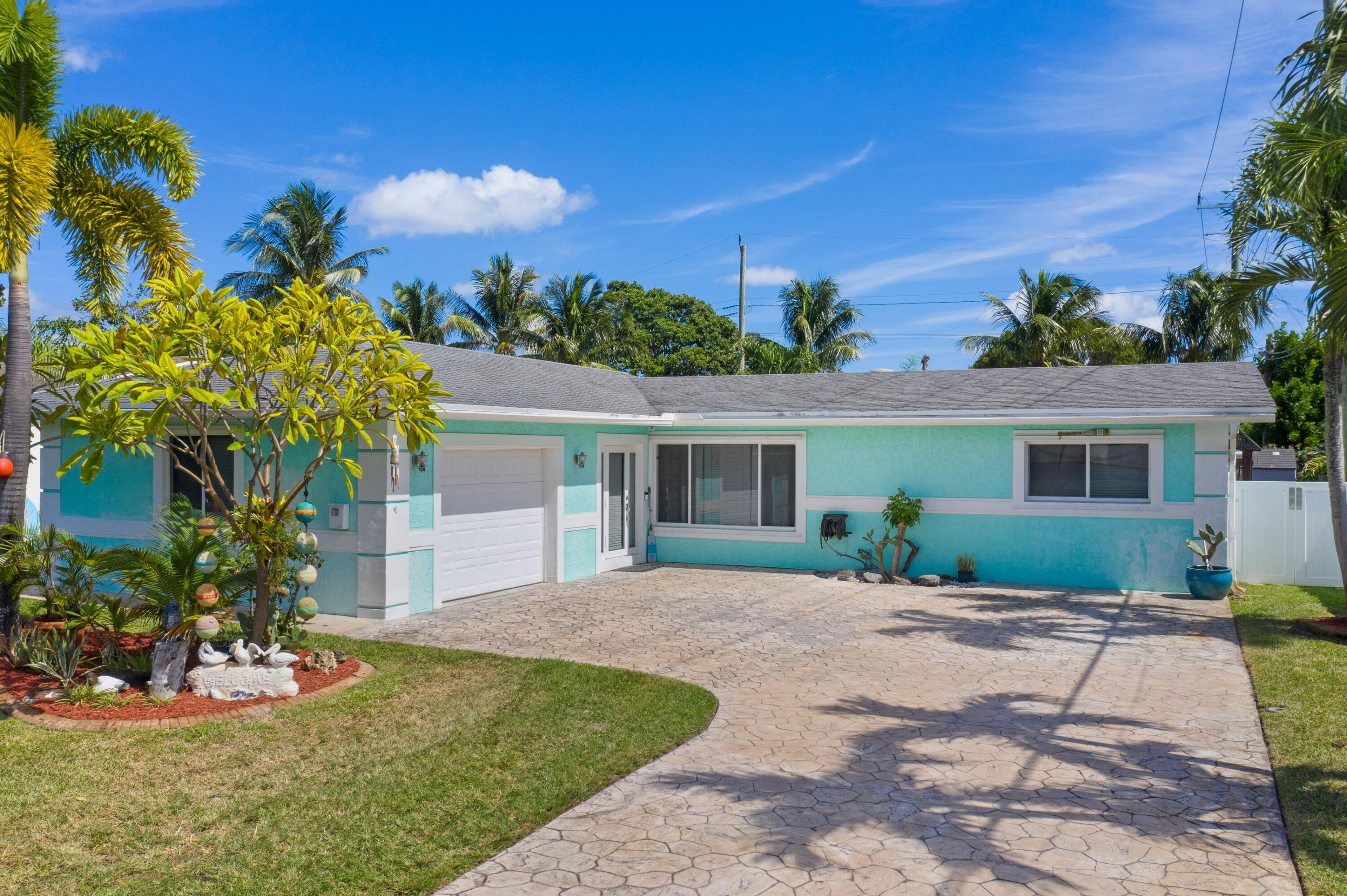 ***Paradise Found***  In Historic East Deerfield Bch, 1 Mile to the ocean in a family-friendly neighborhood with close proximity to parks and boat ramps. Charming 3 bedroom, 2 bathroom, 1 car garage home on an oversized lot. The backyard is a private oasis, fully fenced with plenty of room for a pool. Home is equipped with hurricane shutters, 100 gallon propane house generator (will run the whole house, just filled and serviced), NEW water heater in master, water heater for main house (2018), AC was put in 2015 with a 10 year warranty. Tile floors in main living areas, laminate in bedrooms, granite counter tops in kitchen and stainless steel appliances (2019). Beautiful crown molding throughout. NO popcorn ceiling, NO carpet, and NO HOA! Minutes to I-95.This will NOT last!!