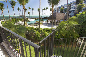 Ocean view from balcony and private stairs to pool.