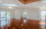 """3/4"""" Hardwood Santos Mahogany floors throughout the entire house. Smooth finish on interior walls and ceilings"""