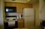 Kitchen with Range, Under cabinet Micro, fridge and dishwasher