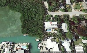 Aerial View of House, Vacant Lot and 6.4 Acres of Water Rights