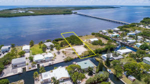 Beautiful open water AND canal front lot on Coral Way, Big Pine Key.