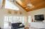 Soaring cypress ceiling and clerestory windows