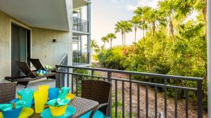 The balcony overlooks the Nature Preserve, and the beach is just beyond...