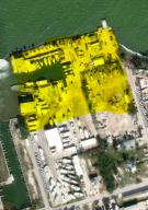 This is the approximate division of the property in yellow