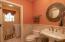 Half bath on main floor with washer/dryer