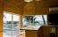 Sliding glass doors pocket out of the way