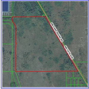 Large tract of land-592.8 acres-in South Dade County Line near Card Sound Road. For Statistical purposes.
