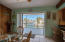 The sliding glass doors open completely to give unobstructed views