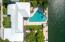 The pool is one of the larger residential pools in Key West.