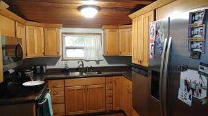 Stainless appliances. Granite countertop