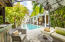 Lush mature tropical landscaping