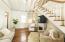 Santos Mahogany hardwood floors throughout living room