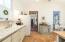 Tiled floor in kitchen