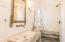 custom fixtures, vanity and shower