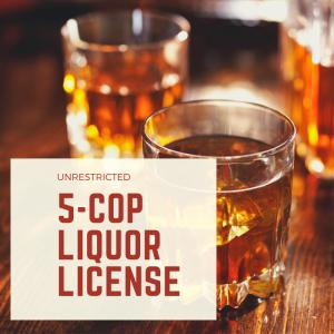Unrestricted 5-COP Liquor License available. Good and Valid for all of Monroe County. Monthly fee of $3,500 plus buyer to pay $25,000 at closing for transfer fees. Available immediately. BEV #5400170 Could be used for bar, restaurant or liquor store.