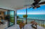 Sliding glass doors from living area and master bedroom