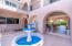 Fountain and breezeway