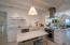 With Carrara marble counters