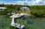 Dock, boatlift and boatramp/beach entry