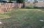 rear fenced yard