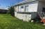 rear yard with laundry shed