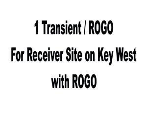 This is 1 Transient / ROGO for an approved receiver site on Key West, full size, 3 bedroom, comes with 1 ROGO.