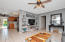 Spacious living, dining kitchen areas