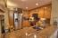 Granite countertops with stainless appliances