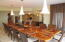 Gracious and spacious elevated dining area