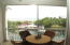Outside dining over looking the Atlantic and dockage