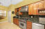 Wolfe gas stove and stainless appliances