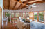 Beautiful tongue and groove ceiling!