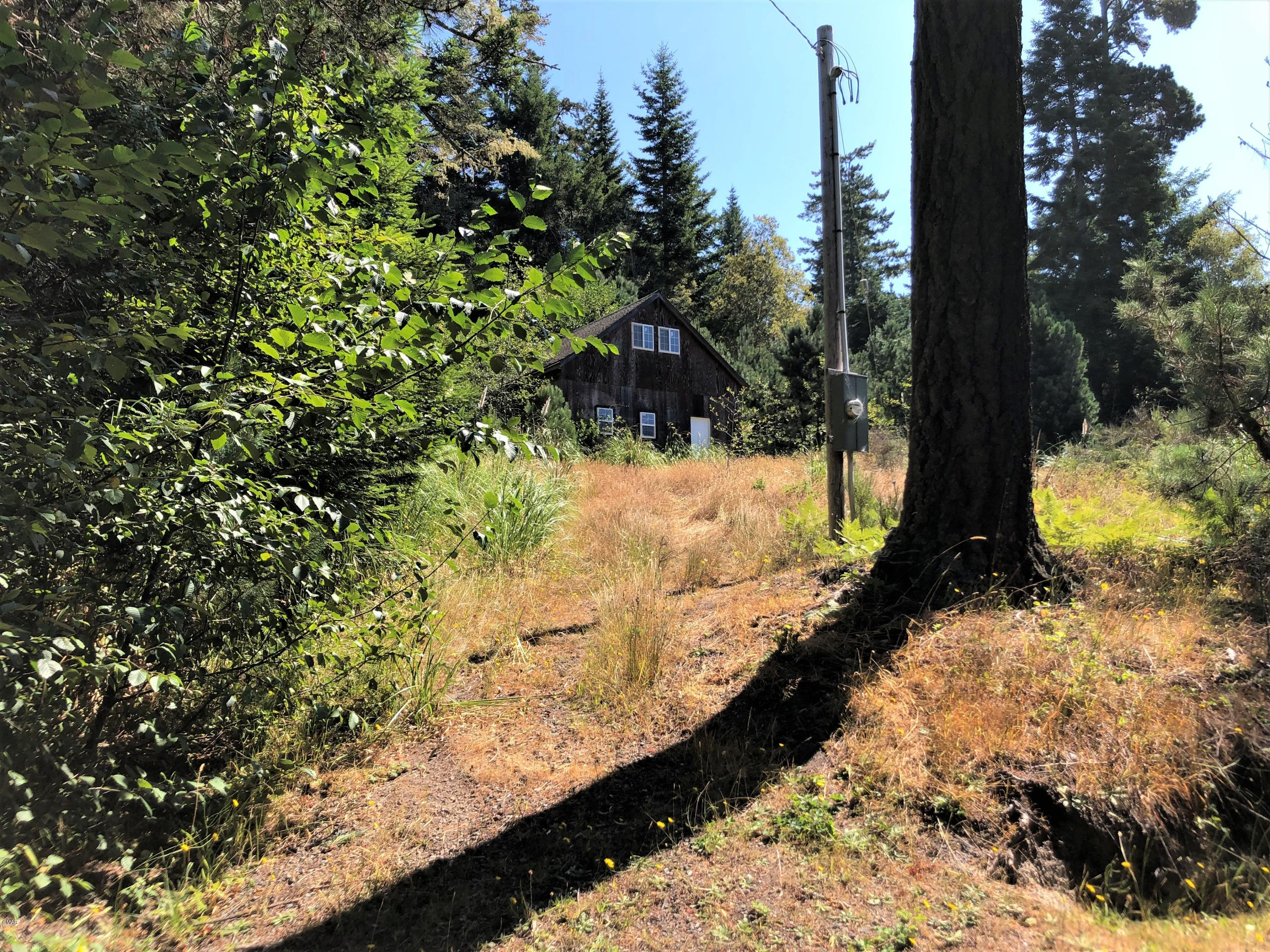 A perfect place to build that special home. A 625 sf garage has been enclosed but needs finish work. The parcel offers a private and peaceful setting of meadows and trees. Septic permit is active. Mutual water and power are in.  Explore adjacent state lands or Mendocino village which is just down the hill.