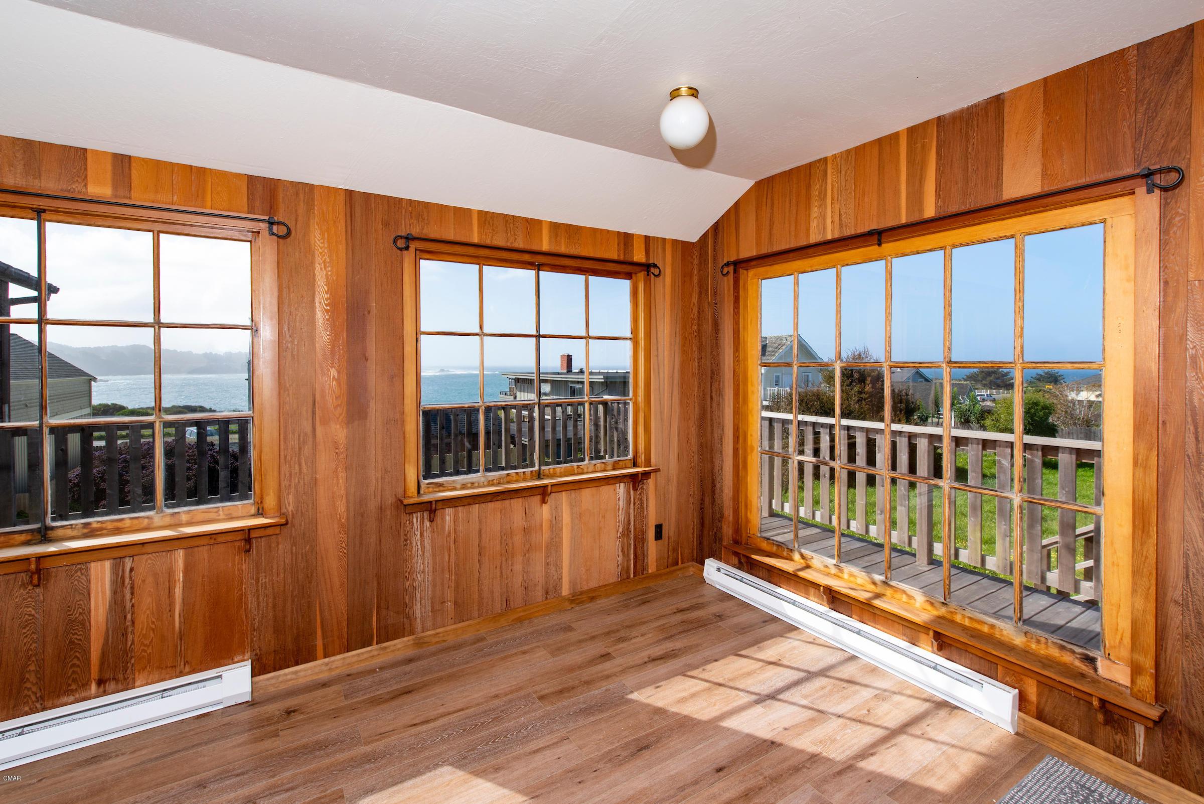 View through vintage windows