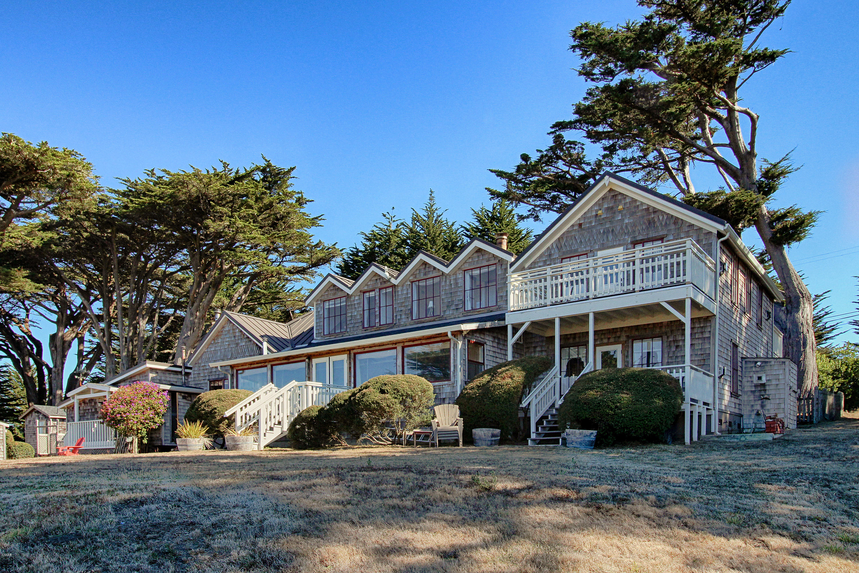 Living the dream...Your ticket to the magic of  the awesome Mendocino Coast!  The Fensalden Inn, whose name means ''The Land of Sea and Mist'' was built in the 1860's and is a coastal treasure filled to the brim with history and charm! Once a Wells Fargo Stage Coach stop, it has been extensively renovated  with care to retain the historical character. Located in Albion, it is 7.50 acres at 400' elevation which provides sweeping ocean views from almost every room on the property.  The Main Unit has 2 kitchens, 6 bedrooms, 6 1/2 baths, a welcoming Foyer, Living Room, Dining Room. and a spacious Sunroom. There are 3 additional detached units. All have kitchens, gas fireplaces, bedrooms, & bathrooms. A list of the property features is available upon request.