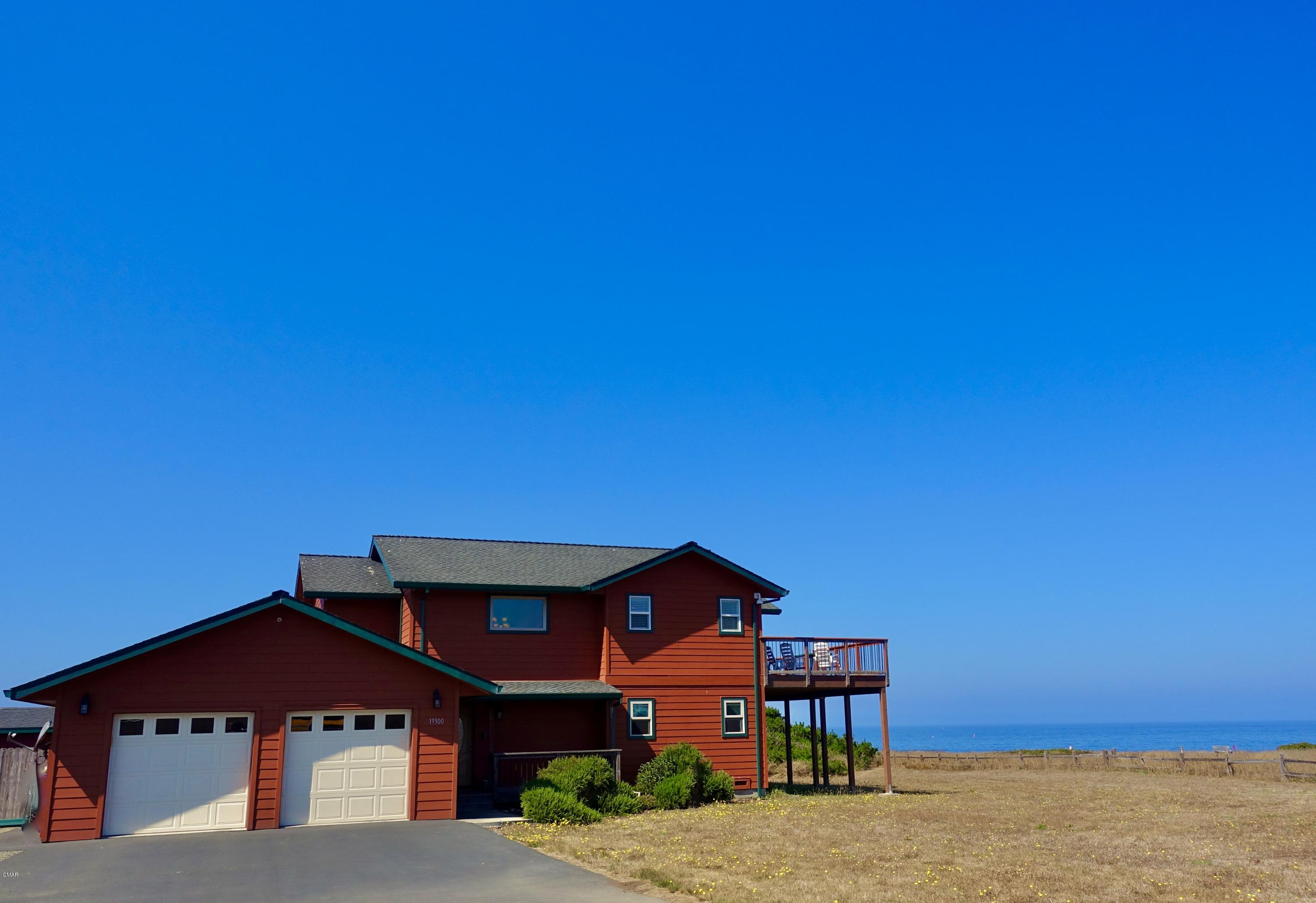 Rare offering in Fort Bragg has wonderful unobstructed ocean views only minutes from city amenities. A perfect marriage of ocean vistas and city convenience is found in this custom built 3 bdrm/3 bath home with office. Overlooking the mouth of the Noyo Harbor, watch migrating whales and fishing boats. Inside, find carefully chosen finishes such as floating bamboo floors, honed serpentine stone in the guest bath, granite kitchen counters, shaker ash cabinets and a lovely slipper tub next to a gas fireplace in the downstairs master. Practical features inc. a whole house alarm system with fire safe sensors, kitchen pantry and fenced area for dogs with a concrete perimeter. This perfect ''beach house'' has vacation rental potential. Or even better move to Ft. Bragg and live the dream full time
