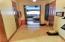 Master bedroom walking closets hallway