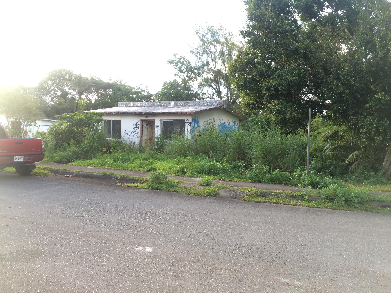 Corner lot property.