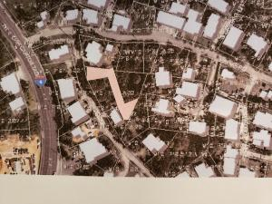 Lot is shaded with a peach color arrow.