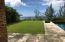 back yard with ocean views
