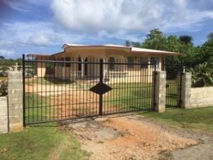 gated w 3sides concrete fenced