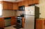 Gas stove, dishwasher, microwave included