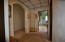 Cozy hall alcove for bedrooms 1 & 2 and guest bathroom creates privacy